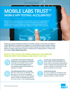 Mobile Labs Trust Product Brochure