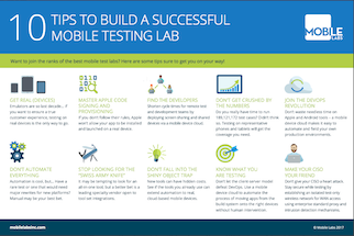 10 Tips to Build a Successful Mobile Testing Lab