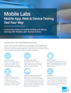Mobile Labs Overview Brochure